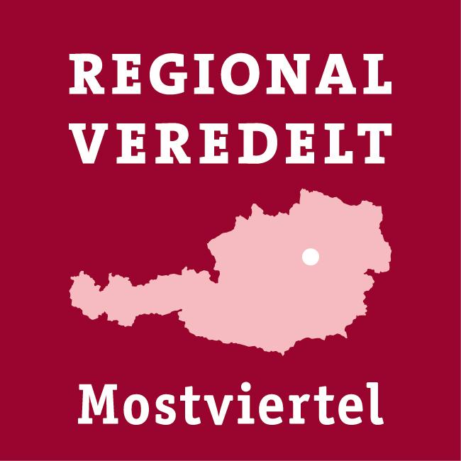 Logo - regional veredelt - Mostviertel